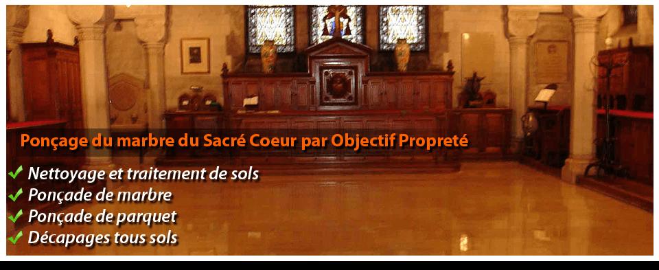 poncage de marbre paris Basilique du Sacré Coeur